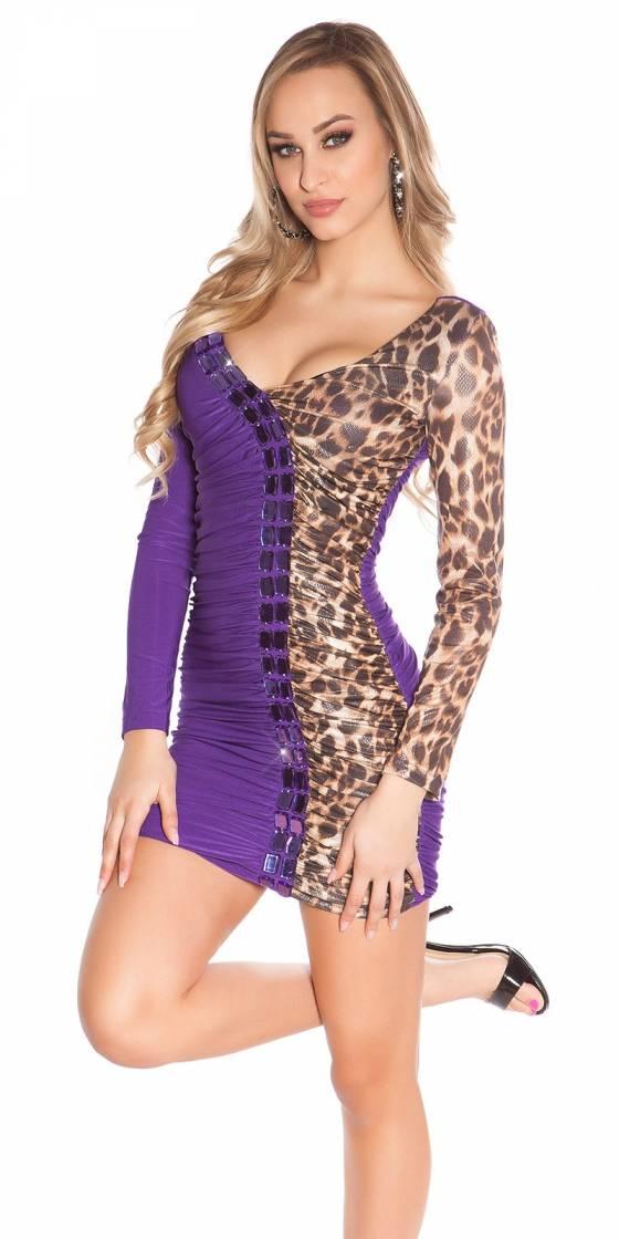 Mini robe sexy avec imprimé...